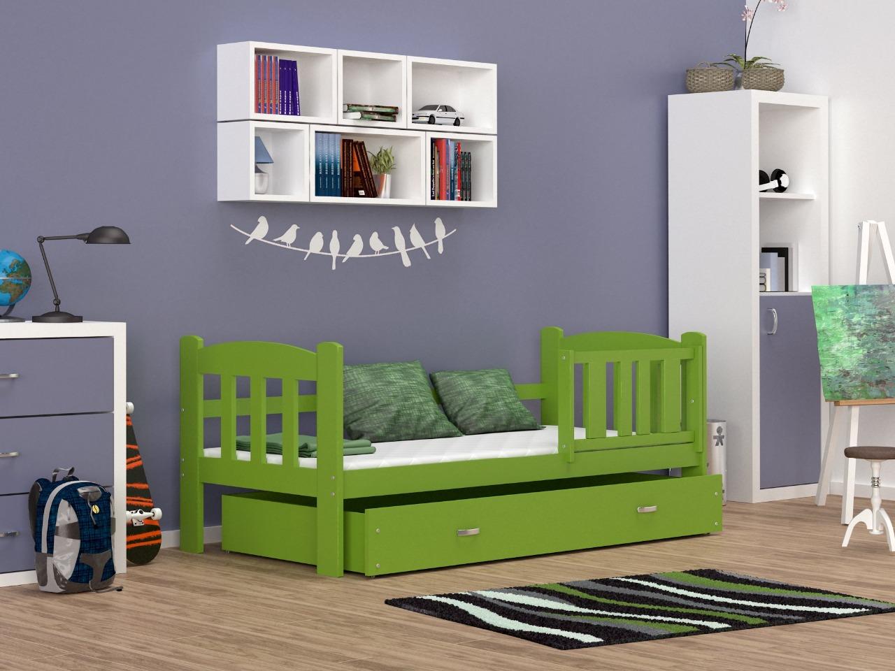 1ec42cd05dd8 Farebná detská posteľ Alan