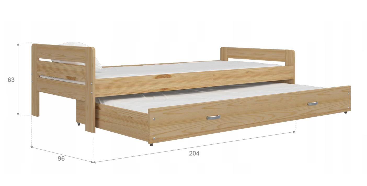 200x90 Jelša rozkladacia postel
