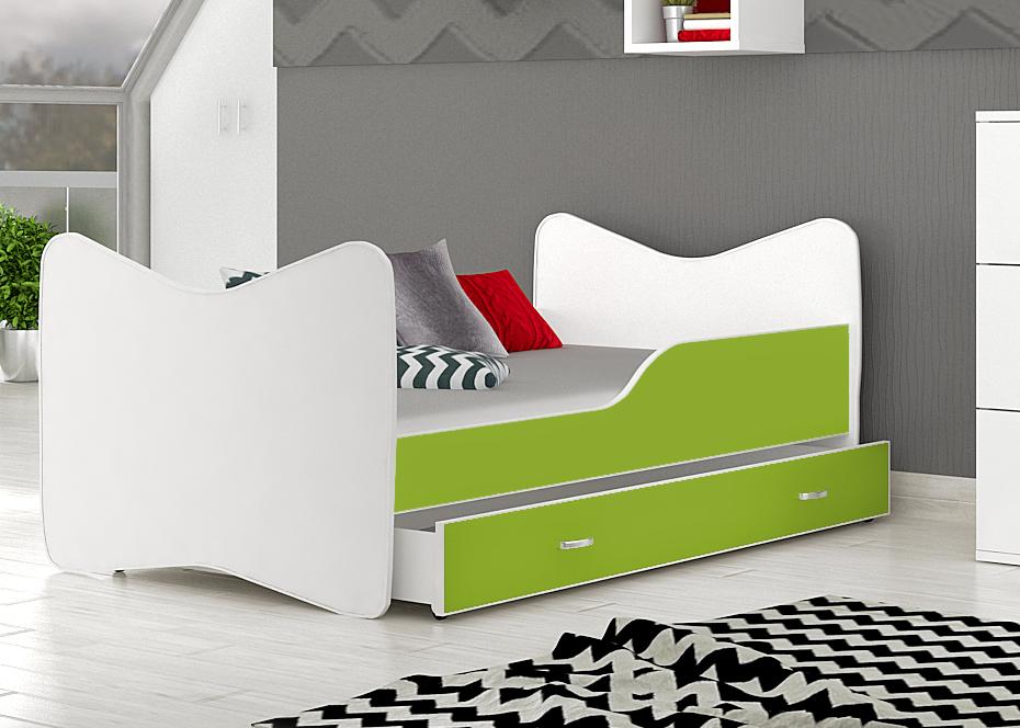 posteľ kevin zelená