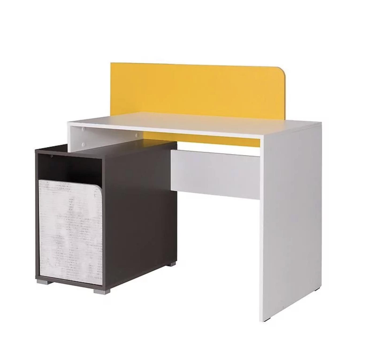 písací stôl briano enigma/grafit/žltá